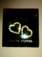 Genuine glass crystal boxed heart earrings (Code 3229)